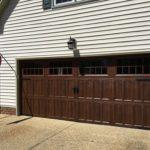 new install dark garage door