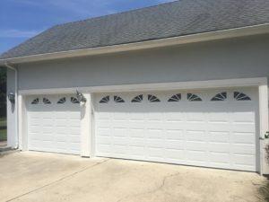 raised panel residential garage door